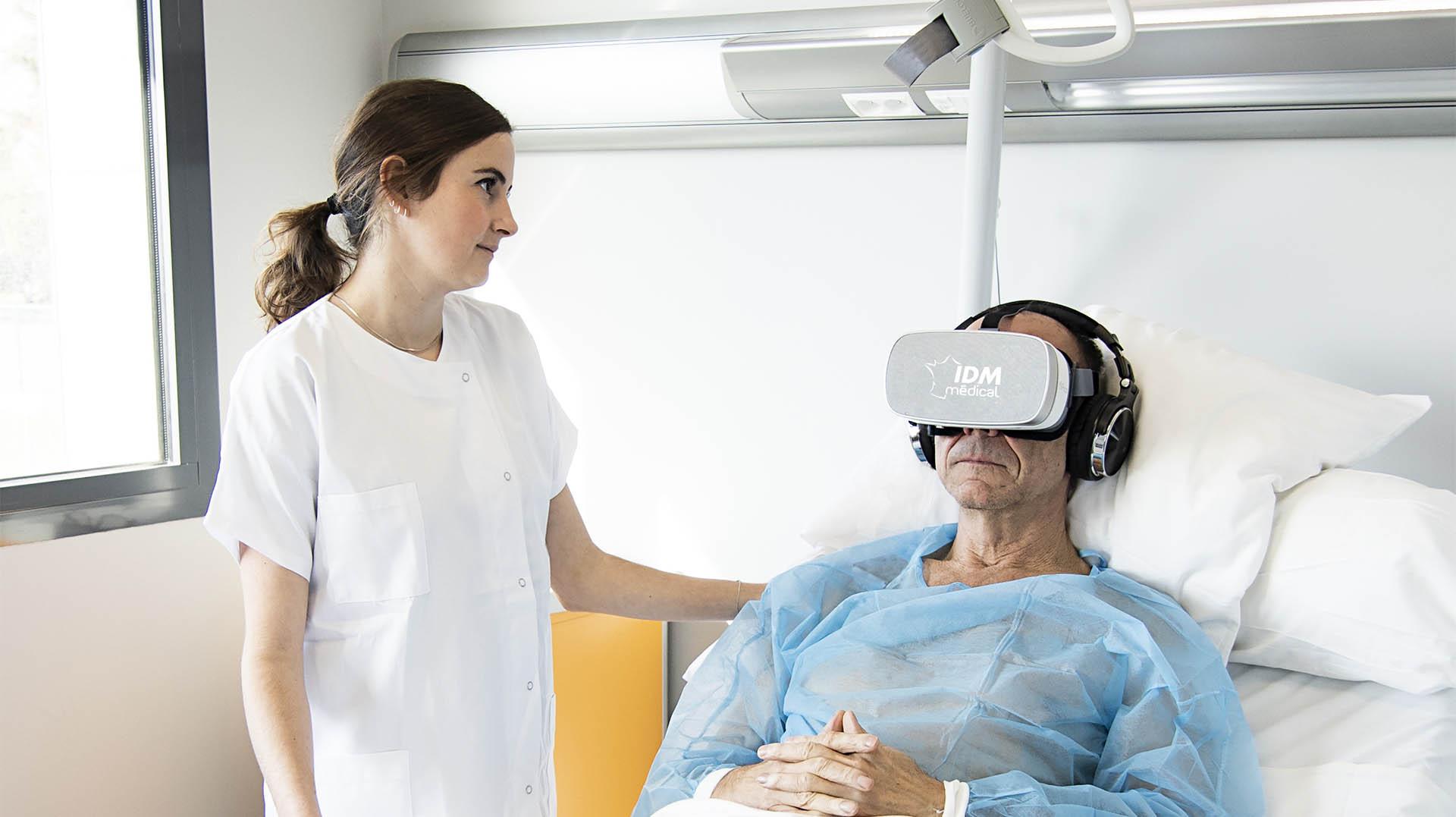 Gestion du stress Casque de réalité virtuelle 1